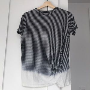 All saints t-shirt stripes size small